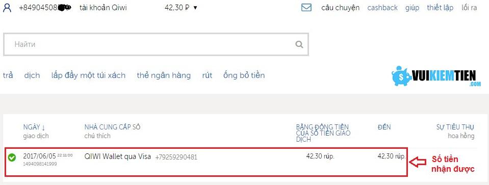 qiwi wallet hướng dẫn đăng ký ví điện tử qiwi