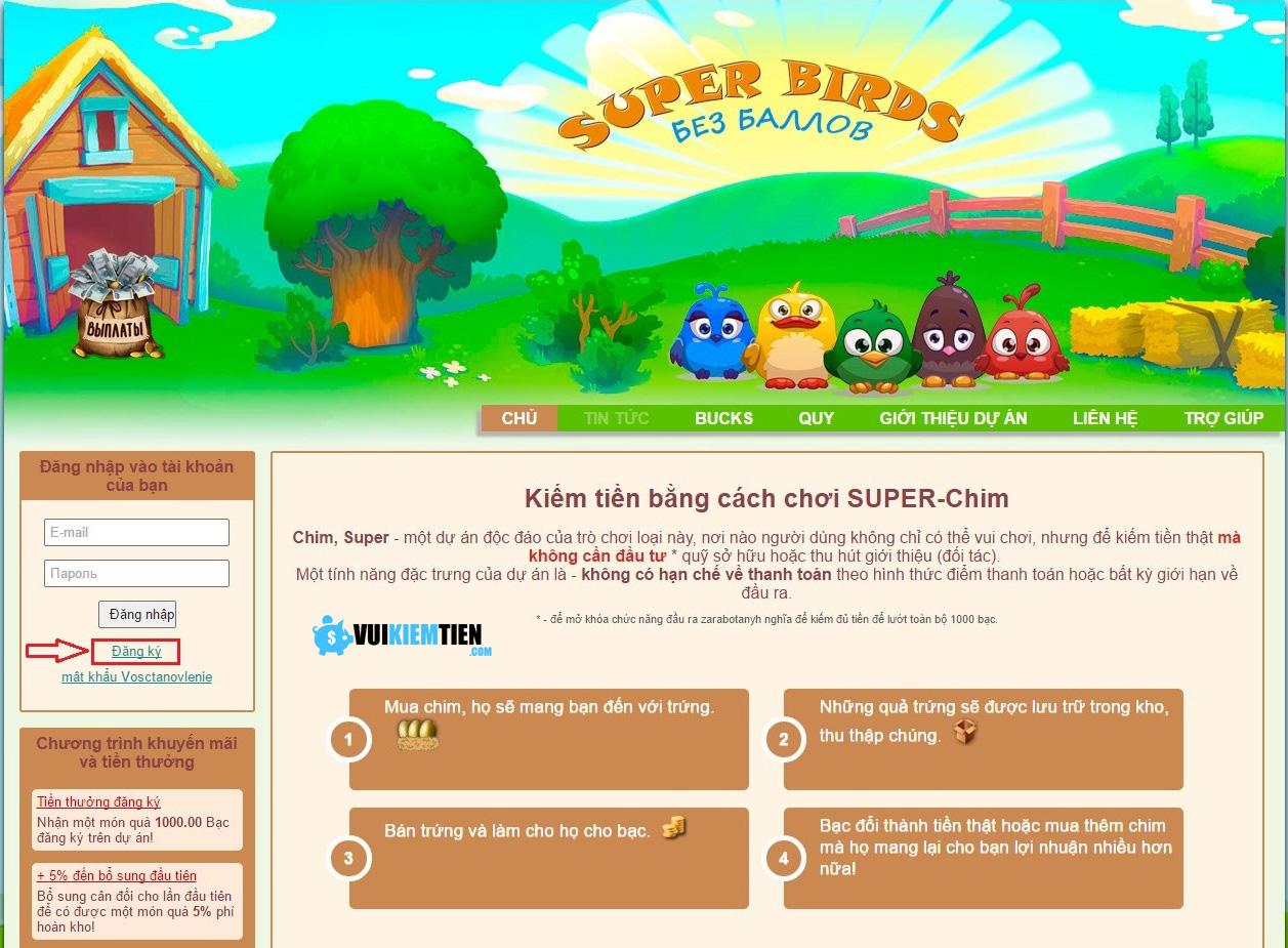 hướng dẫn chơi super birds