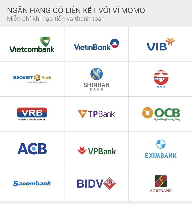 Ngân hàng liên kết ví điện tử MoMo