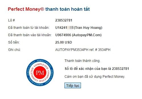 Hướng dẫn sử dụng ví Perfect Money và rút tiền về ngân hàng Việt Nam