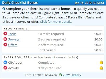 Hướng dẫn kiếm tiền Clixsense - Bonus